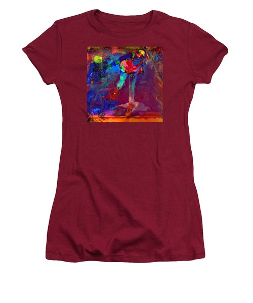 Serena Williams Return Explosion Women's T-Shirt (Junior Cut) by Brian Reaves