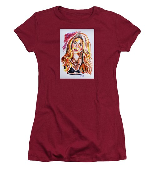 Shakira Women's T-Shirt (Junior Cut) by Viktoriya Lavtsevich