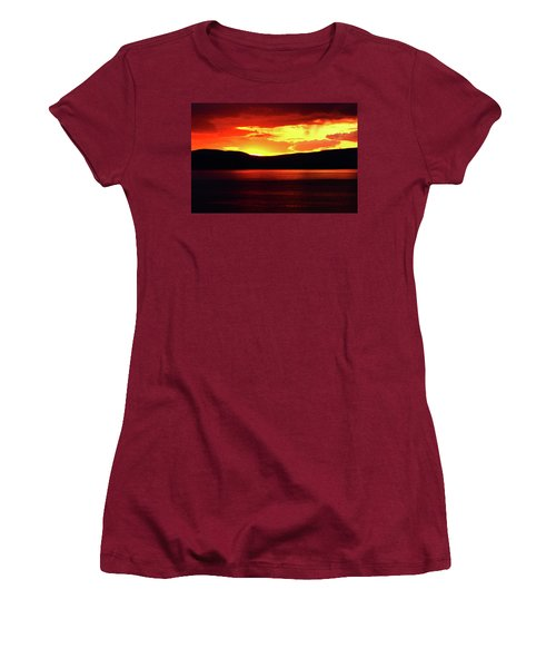 Sky Of Fire Women's T-Shirt (Athletic Fit)