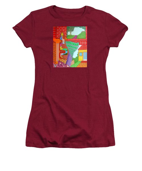 Slanted Women's T-Shirt (Athletic Fit)