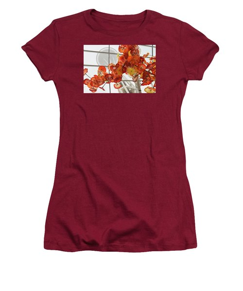 Space Needle And Chihuly Women's T-Shirt (Athletic Fit)