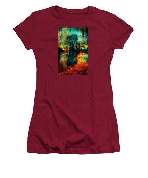 Spook Tree Women's T-Shirt (Junior Cut) by Greg Sharpe