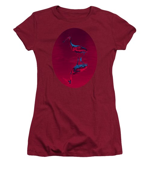 Spoonbill Abstract Decor Women's T-Shirt (Athletic Fit)