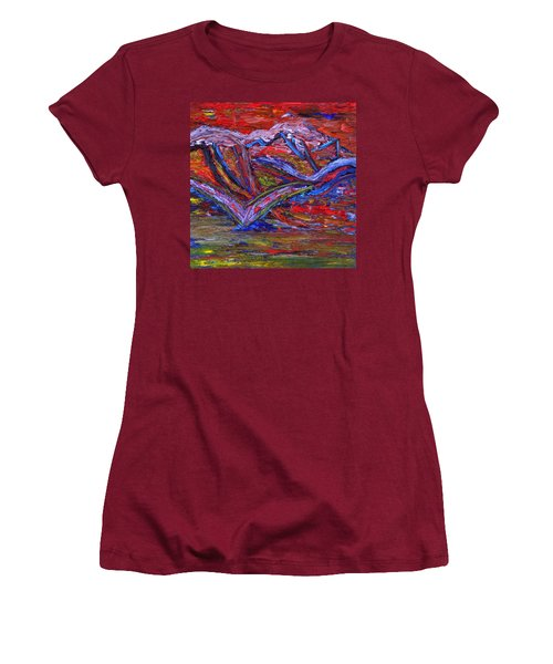Women's T-Shirt (Junior Cut) featuring the painting Spread Your Wings by Vadim Levin