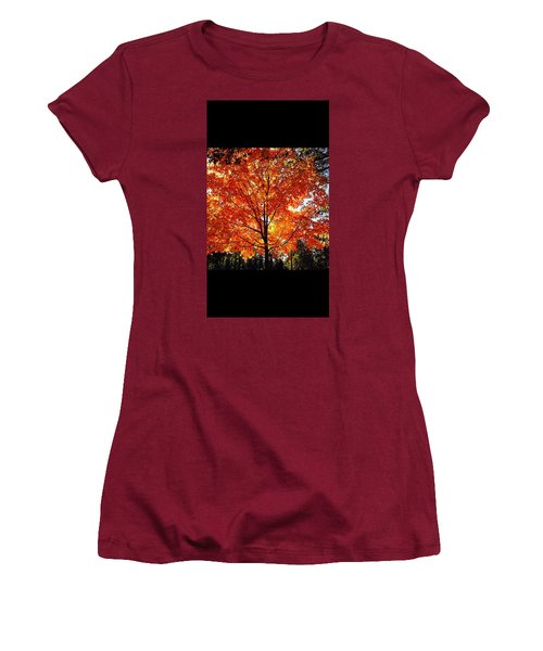 Women's T-Shirt (Athletic Fit) featuring the photograph Springing Into Fall by Aaron Martens