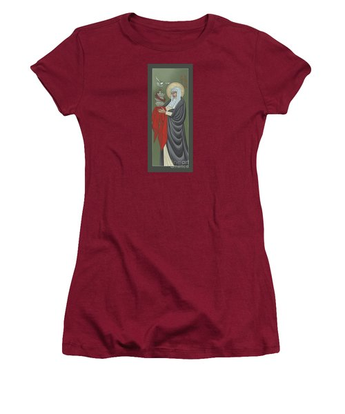 Women's T-Shirt (Athletic Fit) featuring the painting St Catherine Of Siena- Guardian Of The Papacy 288 by William Hart McNichols