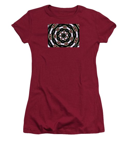Women's T-Shirt (Junior Cut) featuring the photograph Stained Glass Kaleidoscope 12 by Rose Santuci-Sofranko