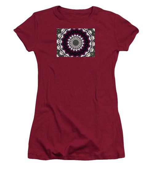 Women's T-Shirt (Junior Cut) featuring the photograph Stained Glass Kaleidoscope 4 by Rose Santuci-Sofranko