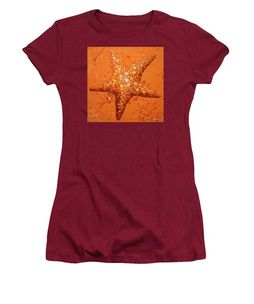 Starfish In Coral Women's T-Shirt (Athletic Fit)