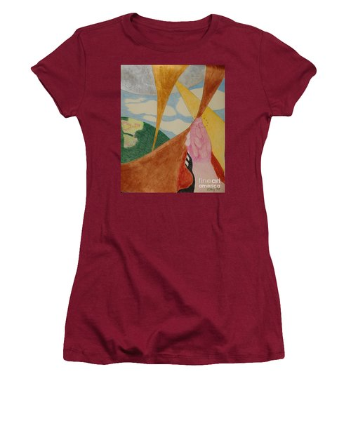 Women's T-Shirt (Athletic Fit) featuring the drawing Subteranian  by Rod Ismay