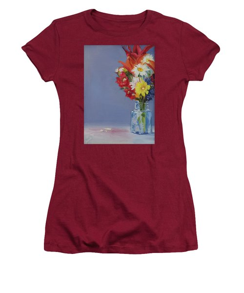 Summer Bouquet Women's T-Shirt (Junior Cut) by Jane Autry
