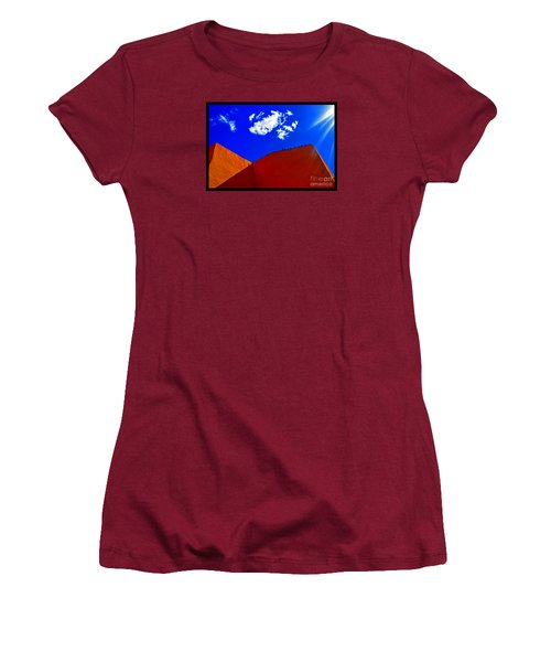 Women's T-Shirt (Junior Cut) featuring the photograph Summer Day In The New World by Susanne Still