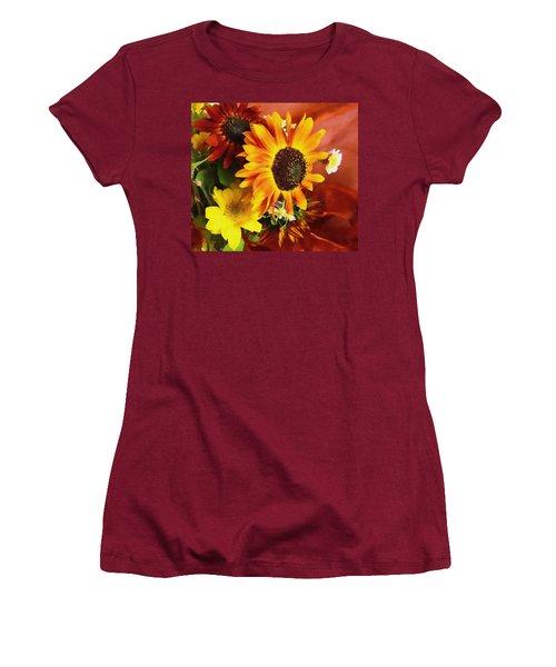 Women's T-Shirt (Junior Cut) featuring the photograph Sunflower Strong by Kathy Bassett