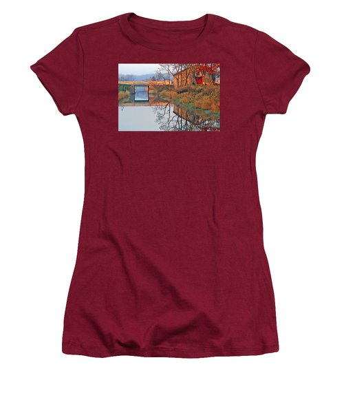 Sunrise On The I And  M Canal Women's T-Shirt (Athletic Fit)