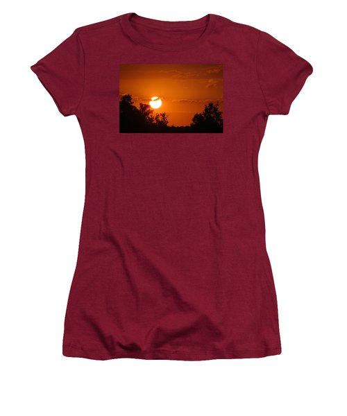 Women's T-Shirt (Junior Cut) featuring the photograph Sunset In Charleston by Donna Bentley