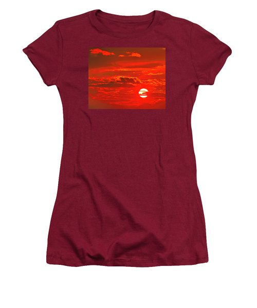 Sunset Women's T-Shirt (Junior Cut) by Tony Beck