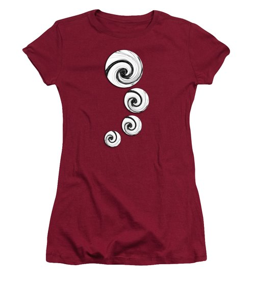 Swirling Round Women's T-Shirt (Junior Cut) by Shawna Rowe