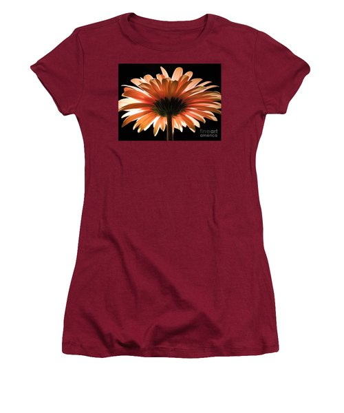 Tangerine Gerber Daisy Women's T-Shirt (Athletic Fit)