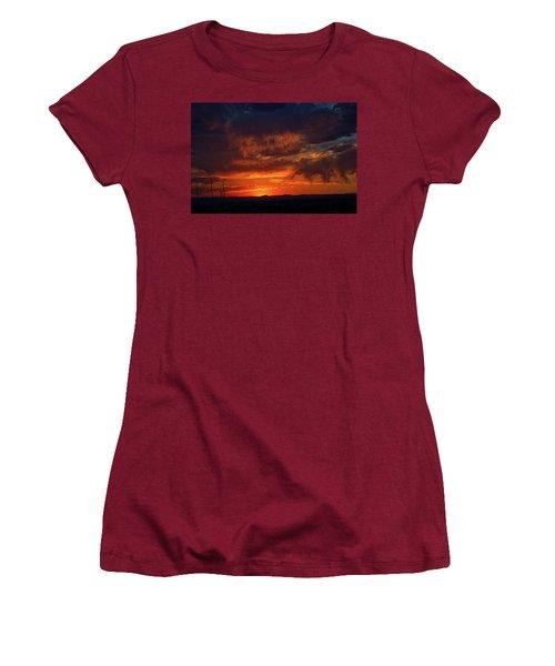 Taos Virga Sunset Women's T-Shirt (Athletic Fit)