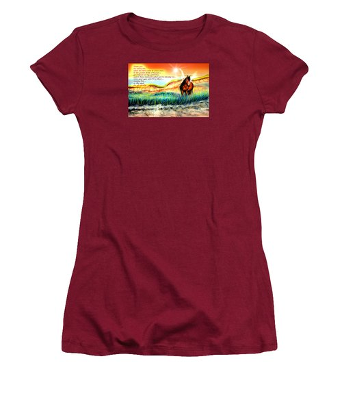 Women's T-Shirt (Junior Cut) featuring the painting Thank You For Loving Me by Patricia L Davidson