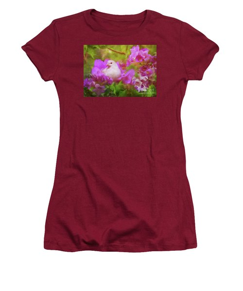 The Garden Of White Dove Women's T-Shirt (Athletic Fit)