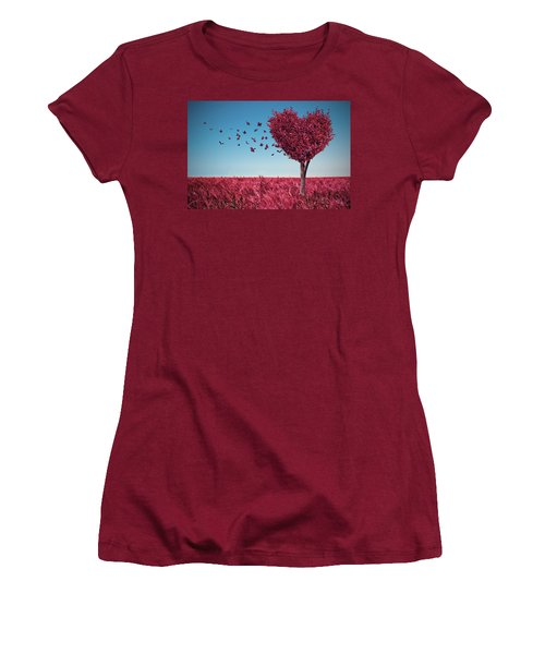 The Heart Tree Women's T-Shirt (Athletic Fit)