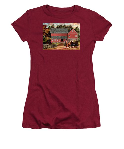 The Last Wagon Women's T-Shirt (Junior Cut) by Ron Chambers