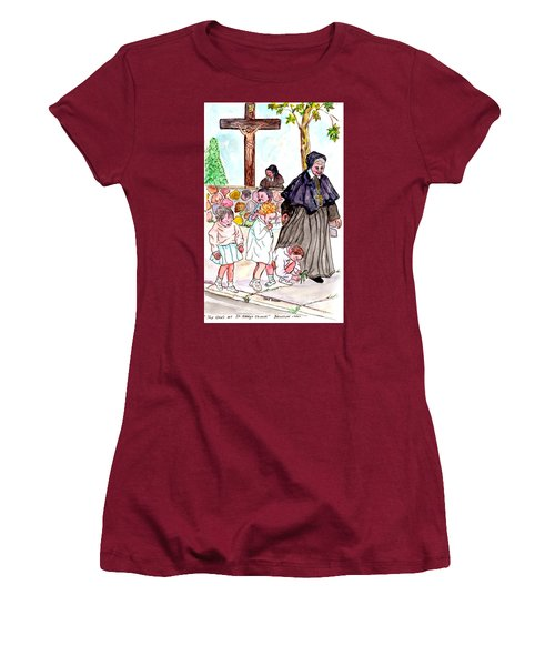 The Nuns Of St Marys Women's T-Shirt (Junior Cut) by Philip Bracco