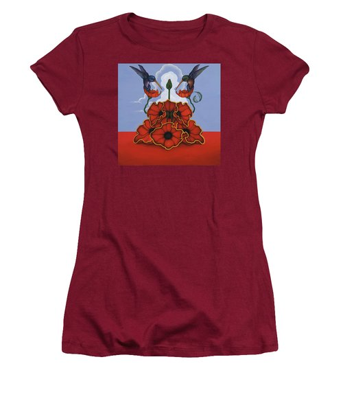 Women's T-Shirt (Junior Cut) featuring the painting The Ravishers by Andrew Batcheller