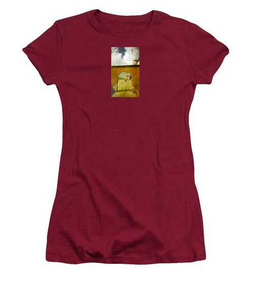Women's T-Shirt (Junior Cut) featuring the photograph The Red Archway by Anne Kotan