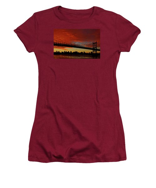The Sky Is Burning Women's T-Shirt (Athletic Fit)