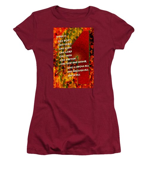 There Is Only One Women's T-Shirt (Junior Cut) by Chuck Mountain