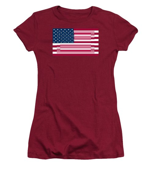 Three Layered Flag Women's T-Shirt (Athletic Fit)