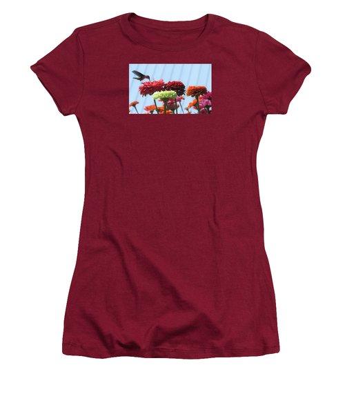 Thristy Hummer Women's T-Shirt (Junior Cut) by Jeanette Oberholtzer