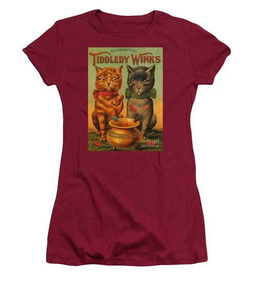 Tiddledy Winks Funny Victorian Cats Women's T-Shirt (Junior Cut) by Peter Gumaer Ogden Collection
