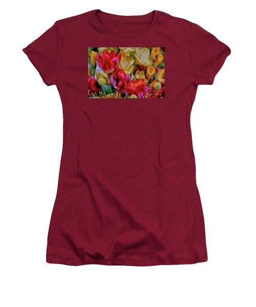 Tulip Bouquet Women's T-Shirt (Junior Cut) by Sandy Moulder