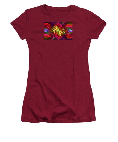 Women's T-Shirt (Junior Cut) featuring the photograph Twirly Mandala 02 by Jack Torcello
