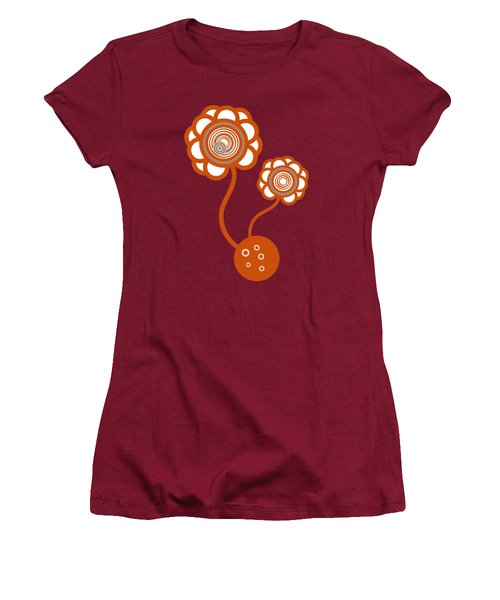 Two Orange Flowers Women's T-Shirt (Junior Cut) by Frank Tschakert