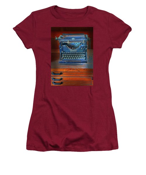 Women's T-Shirt (Junior Cut) featuring the photograph Underwood Typewriter by Dave Mills