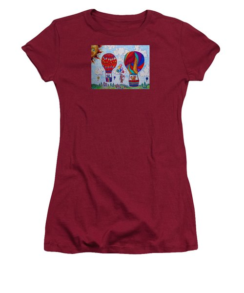 Up Up And Away Women's T-Shirt (Junior Cut) by Megan Walsh