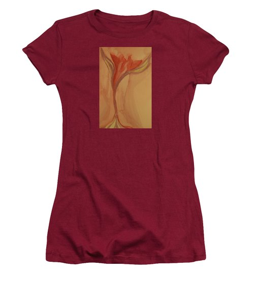 Women's T-Shirt (Junior Cut) featuring the painting Uplifting by The Art Of Marilyn Ridoutt-Greene