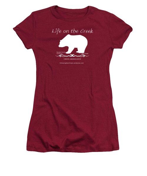 Ursus Americanus - White Text Women's T-Shirt (Athletic Fit)