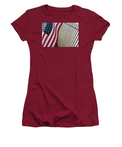 Usa All The Way Women's T-Shirt (Athletic Fit)