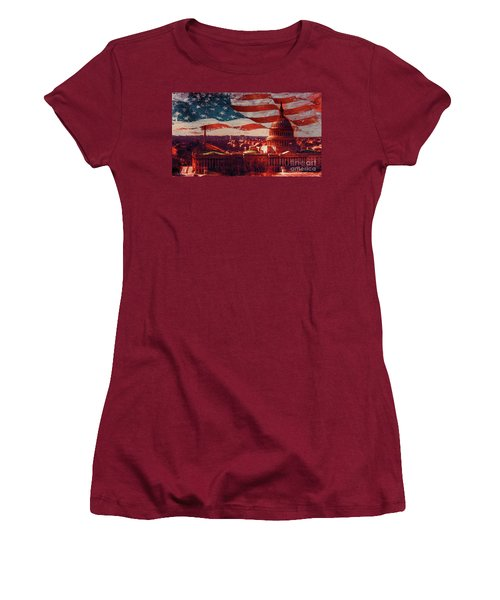 Washington Dc Building 76h Women's T-Shirt (Junior Cut) by Gull G