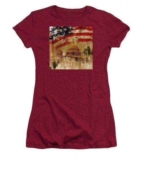Washington Dc Women's T-Shirt (Junior Cut) by Gull G