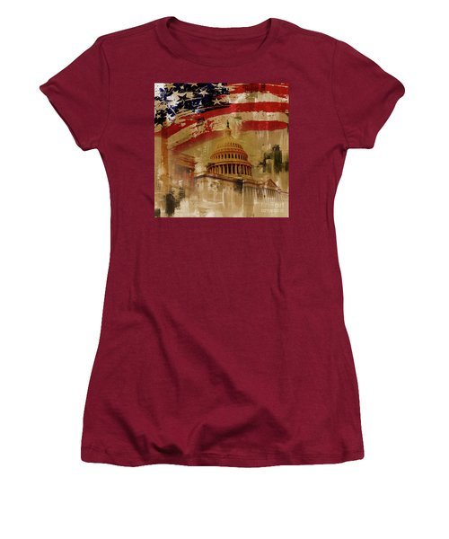 Washington Dc Women's T-Shirt (Athletic Fit)