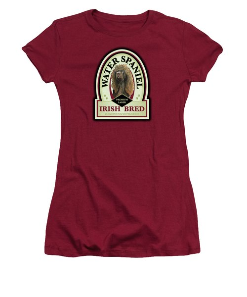 Water Spaniel Irish Bred Premium Lager Women's T-Shirt (Athletic Fit)