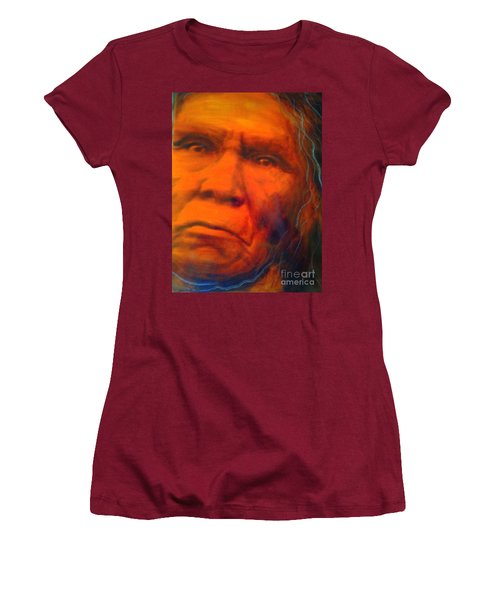 Women's T-Shirt (Junior Cut) featuring the painting We Are First Nation by FeatherStone Studio Julie A Miller