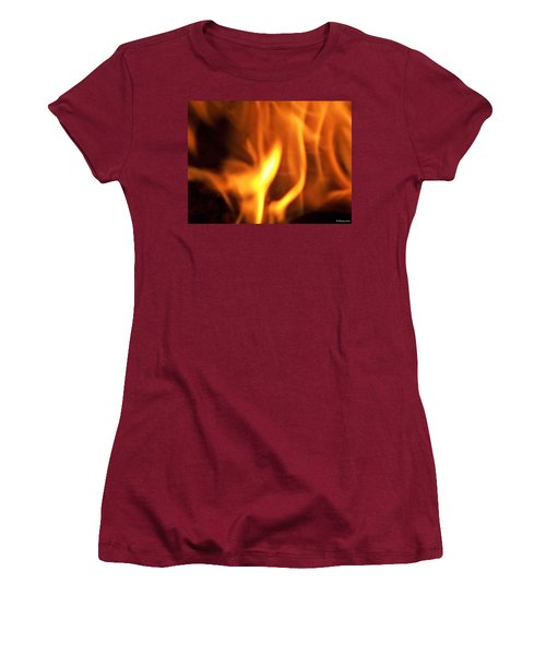Women's T-Shirt (Junior Cut) featuring the photograph White Hot by Betty Northcutt