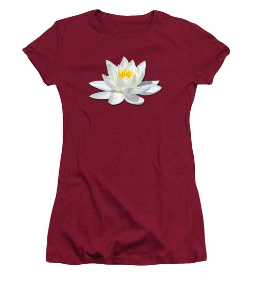 White Lily 2 Women's T-Shirt (Junior Cut) by Bob Slitzan